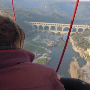 Vol au-dessus du Pont du Gard
