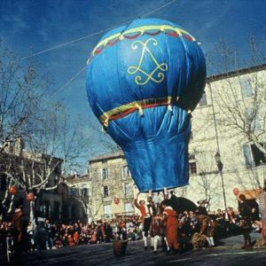 La réplique du ballon des Frères Montgolfier
