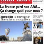 Revue de presse - A la Une de Midi Libre MONTPELLIER - 2012