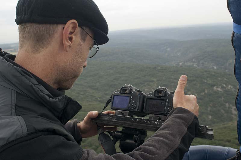Tournage au-dessus des Gorges du Gardon - 2012